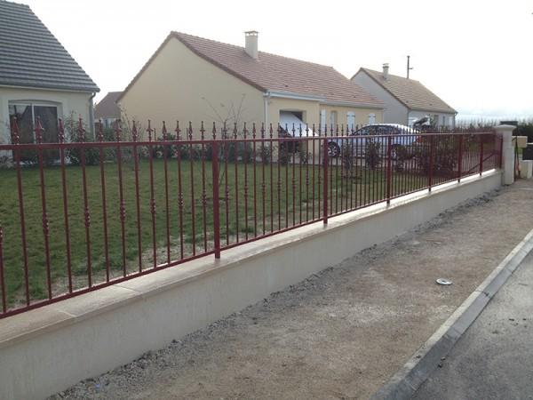 Grille de clôture avec peinture Epoxy