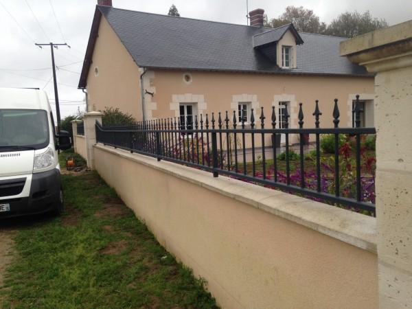 Grille de clôture métallique fer forgé